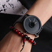 Lovers Gift Fashion Casual Simple Quartz Wristwatch Elegant Style Leather Strap Three Pointer Watch Men Relogios Watches LL