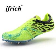 c538993b49a Crianças Sapatos Atletismo Spikes Preto Amarelo Casais Execução Unhas Tênis  Luz Rastreamento Sapatos Ata Acima As