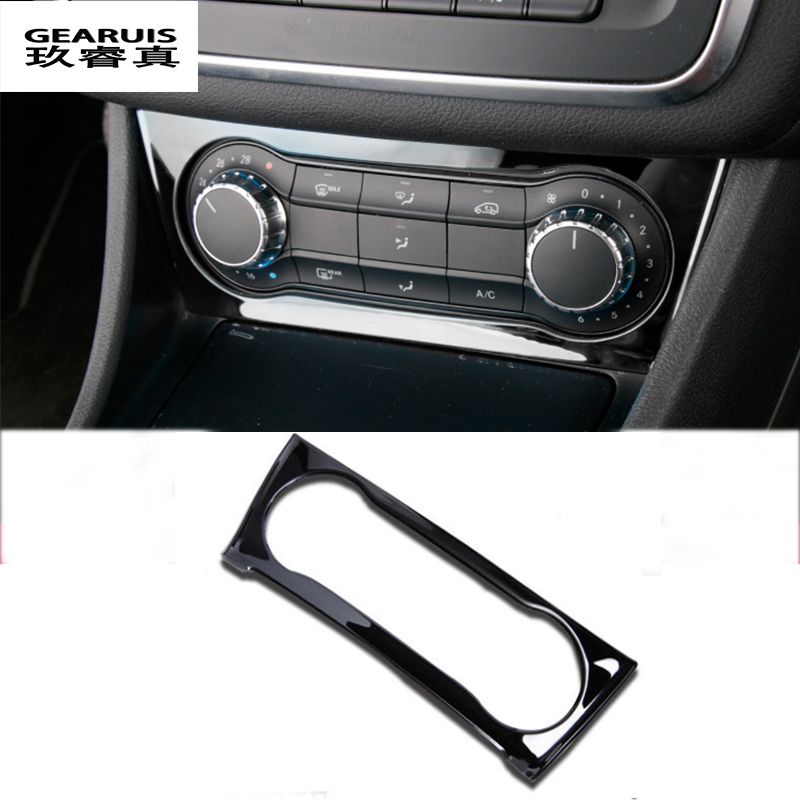 For <font><b>Mercedes</b></font> Benz A GLA <font><b>CLA</b></font> Class W176 X156 C117 Interior Air Condition AC Switch Cover Trim stainless steel Stickers 2013-2017 image