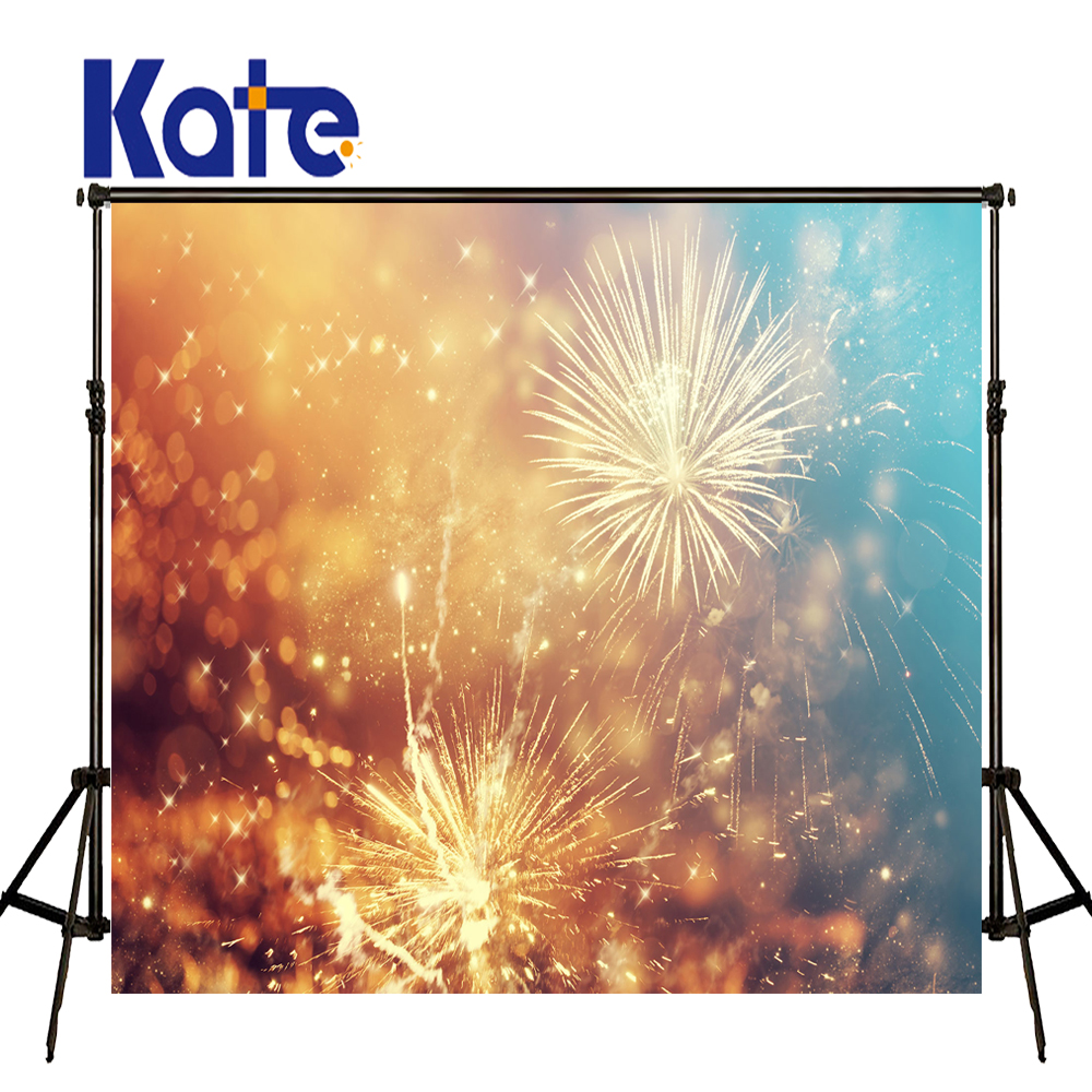 KATE Photography Backdrops 5x7ft Christmas Backdrop New Year Photo Colorful Firecracker Background for Children Photo Studio