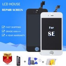 Купить ЖК Дом качество AAA для iphone 5S SE ЖК-дисплей с сенсорным экраном планшета замена модуля Ремонт телефонов ЖК-монитор a1723