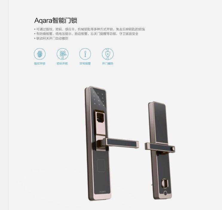 Buy xiaomi aqara smart door touch lock for 1 touch door lock