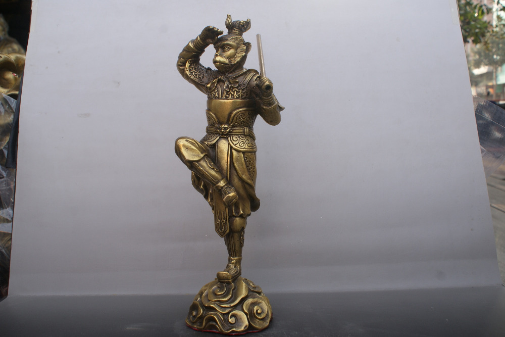 Chinese old  bronzes Statue Sun WuKong  copper StatueChinese old  bronzes Statue Sun WuKong  copper Statue
