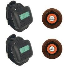JINGLE BELLS 433 МГц Беспроводная система вызова с дальним расстоянием 2 звонка 2 часы пейджер приемник вызов пейджер система ресторана
