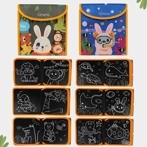 Image 4 - Tumama Cloth Books Portable Blackboard Book Can Repeatable Painting Educational Toys For Children Multifunction Montessori Toys