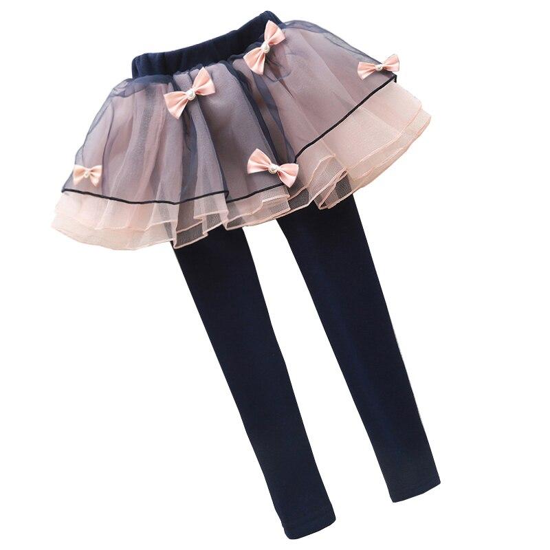 Teenage Girls Leggings Cotton Tutu Skirts For Girls Clothing Spring Autumn Skinny Trousers For Girls Skirt Pants 10 11 12 13 14