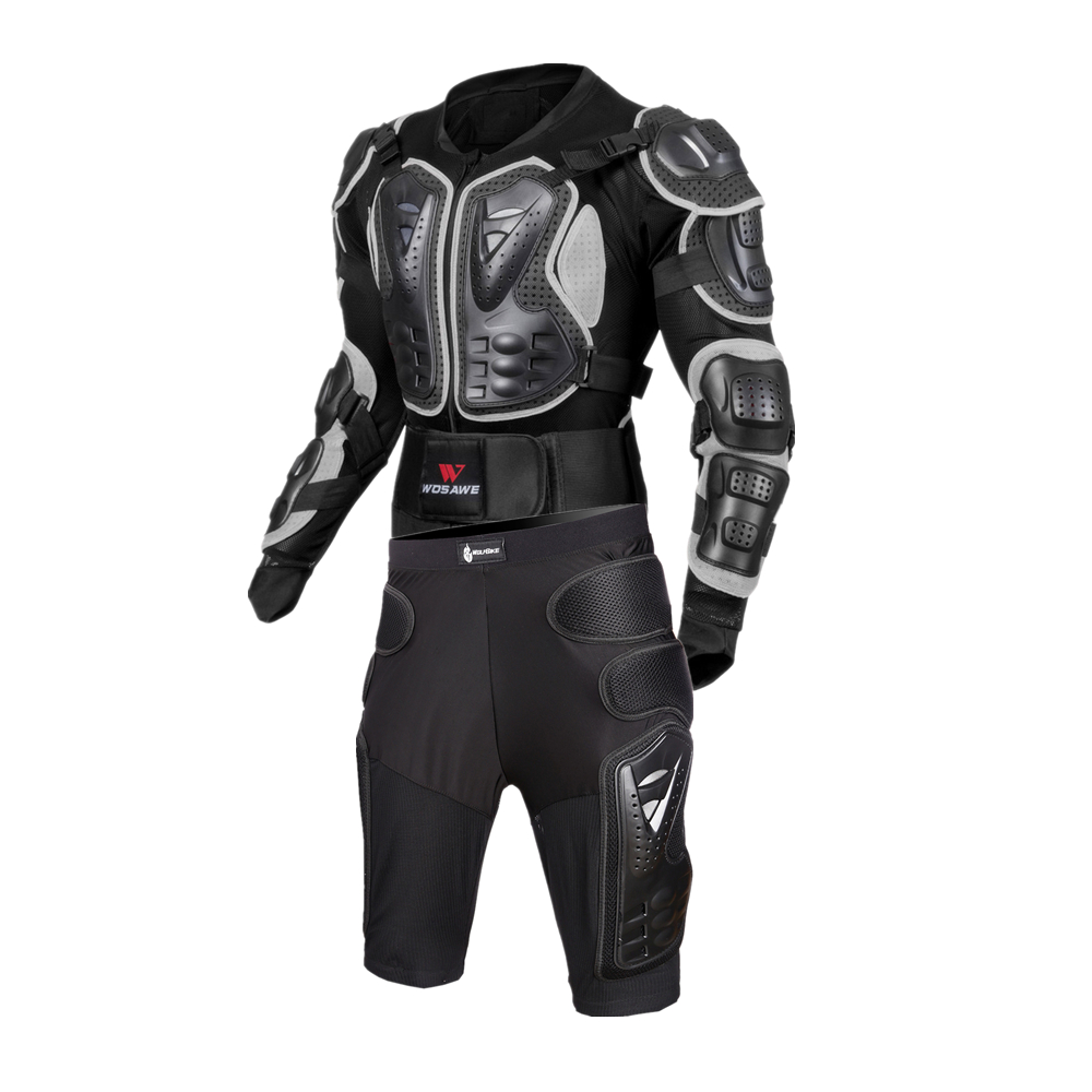 WOSAWE Auto Racing Motorcycle Protective Shell body Suits Jacket Skin Care Hip Protective Racing Cycle Motocross Lumbar Bands in Back Support from Sports Entertainment