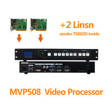 Video controller MVP508 with 2pcs Linsn ts802d sending card like vdwall lvp515 video processor for stage rental display cabinet