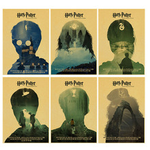 Harry Potter poster the deathlk hallows Vintage Retro Matte Kraft Paper Antique Posters Wall Sticker Home Decora(China)