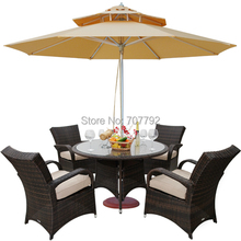 Outdoor Wicker Patio Furniture New Resin Dining Table Set with 4 Chairs(China)