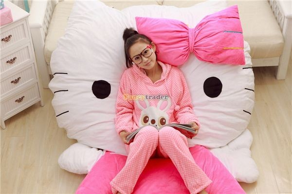 Fancytrader 200cm X 150cm Soft Lovely Huge Giant Pink Hello Kitty Double Bed Carpet Sofa, FT50313 (7)