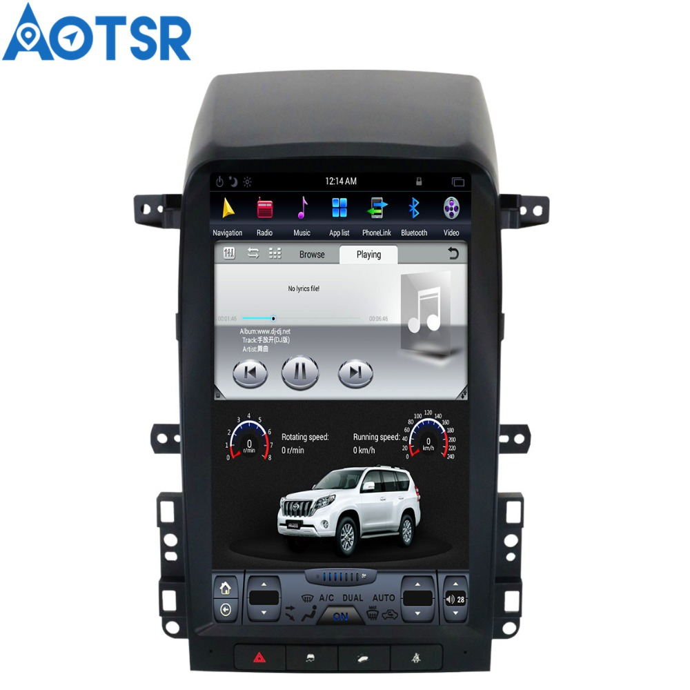 Android 6 0 Tesla style Car DVD font b Player b font GPS Navigation For Chevrolet