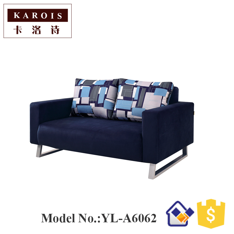 Nordic simple multi-functional fabric sofa bed folding living room double sofa 1.5 meters enhanced version of european style metal bed iron bed double bed pastoral style student bed 1 5 meters 1 8 meters