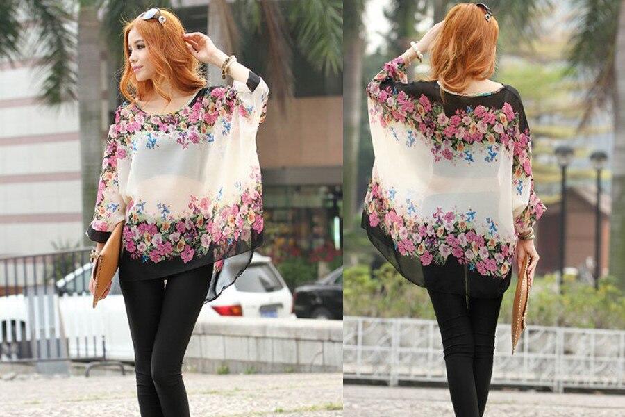 HTB1ZhqdLXXXXXb3XpXXq6xXFXXX3 - New Fashion Summer Women's Shirt Boho Style Batwing Casual