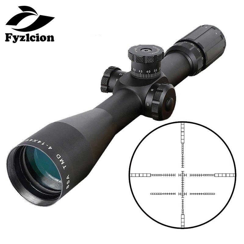 Portée de fusil de chasse BSA TMD 4-14X44 FFP lunette de visée premier plan Focal verre Mil point réticule optique tactique vue côté parallaxe