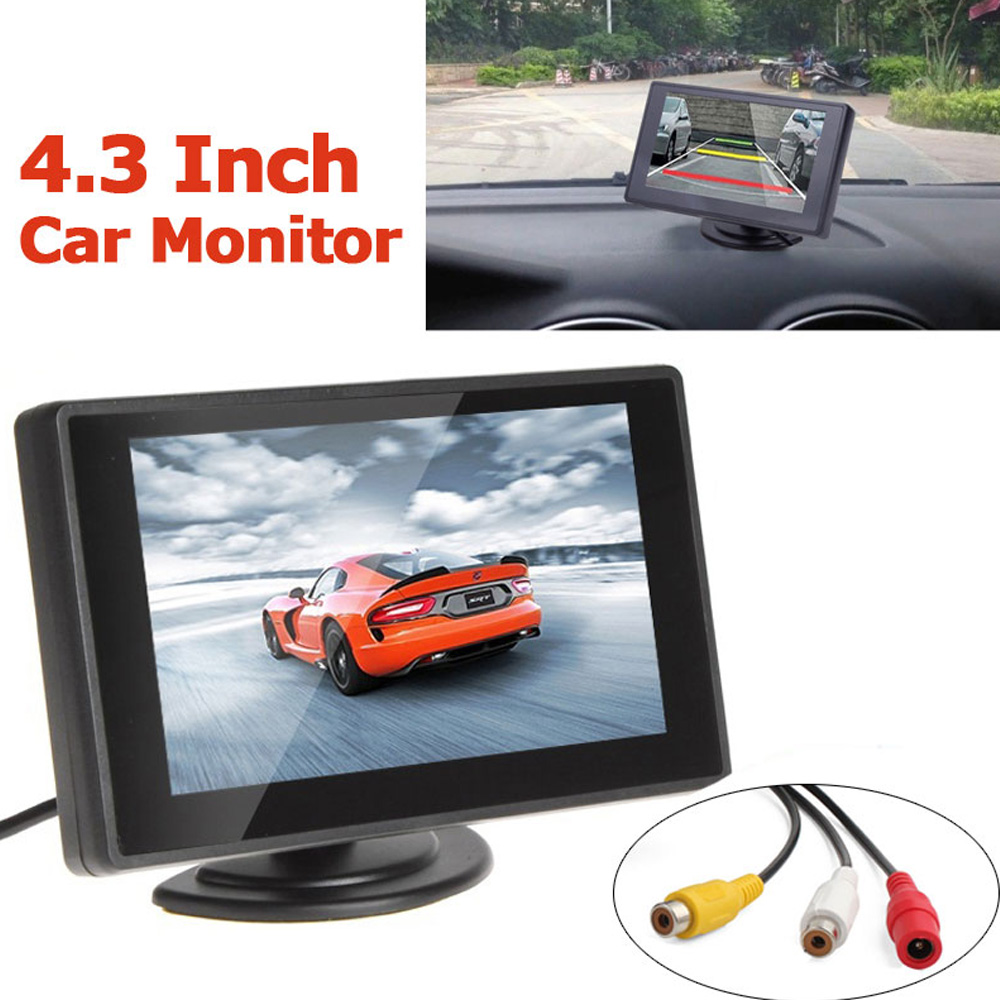 Car Rear View Camera Backup Parking with EU European License Plate Frame + 4.3 inch LCD Monitor New Arrival