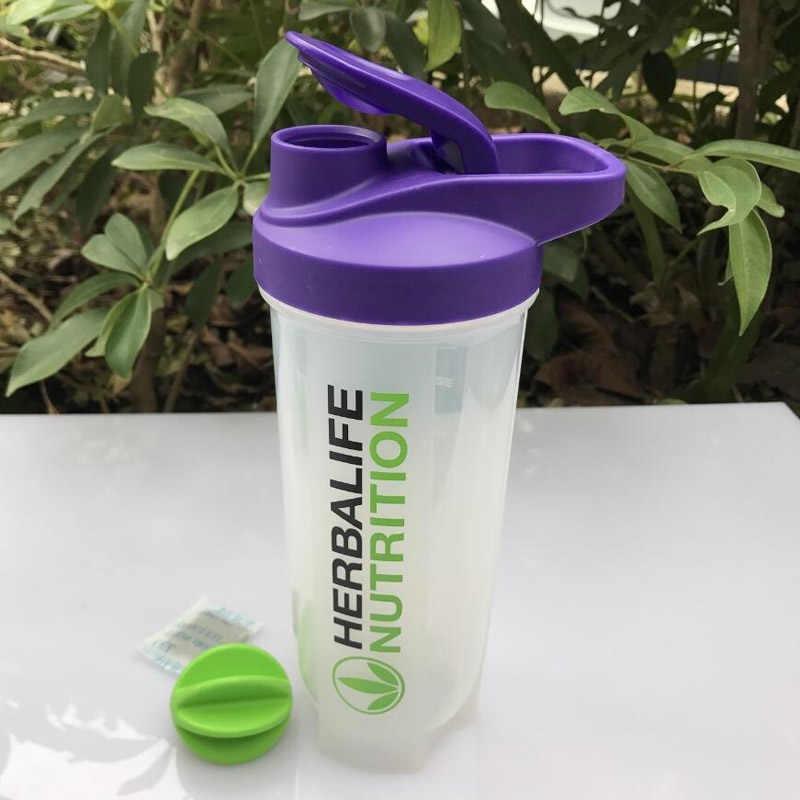 2019 Nova Herbalife Batido Shaker Garrafas à prova de Fugas Copo com 700 ml Escala Copo Liquidificador Mão Café Garrafa de Esportes
