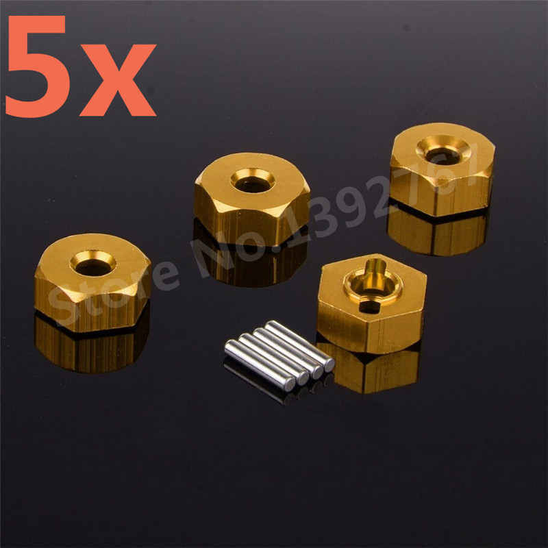 Wholesale 5Packs Lot 4Pcs Pack HSP Aluminum Wheel Hex Nut 12mm 102042 02134 122042 Parts For