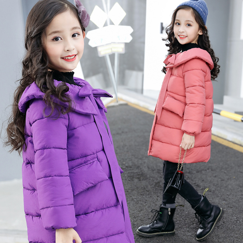 2018 New Fashion Kids Teens Jackets 10 12 Toddler Girls Cotton Down Coats Children Kids Girls Parka Winter Warm Children Outwear winter girls jackets girls parka children outdoor coats kids outwear solid color teenage girls coats kids clothing 2016