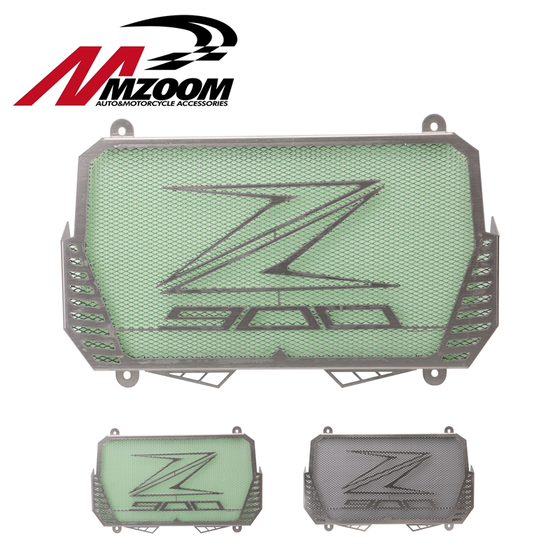 MZOOM GT Motor - New Arrival for Kawasaki Z900 2017 Stainless Steel Motorcycle Radiator Guard Protector Cover Bezel Grille motorcycle stainless steel for kawasaki radiator grille guard grenaj radiatore covers protector accessories z750 z800 z1000