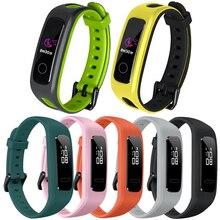 Замена двойной цвет ремешок для huawei honor band 4 Бег наручные силиконовые часы версия