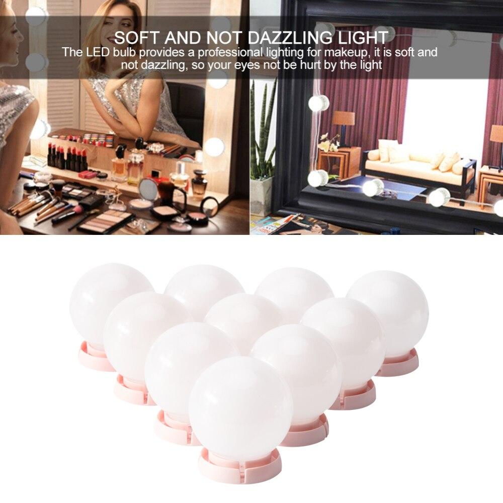 Vanity LED Light Bulbs Kit for Makeup Mirror USB Charging Port Cosmetic Lighted Make up Mirrors Bulb Adjustable Brightness light