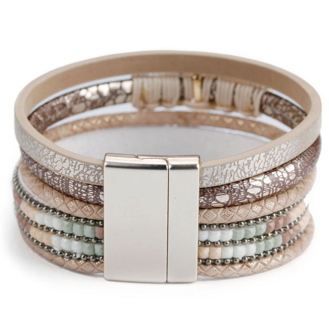 Exquisite Multilayer Leather Bracelet for Women