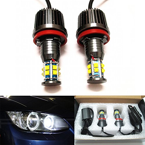 H8 For BMW E92 E93 E70 E71 Angel Eye LED Lights Bulbs WHITE Halo Rings CREE CHIP 120W Error Free F01 F02 F03 F04 E83 E70 E71 E89