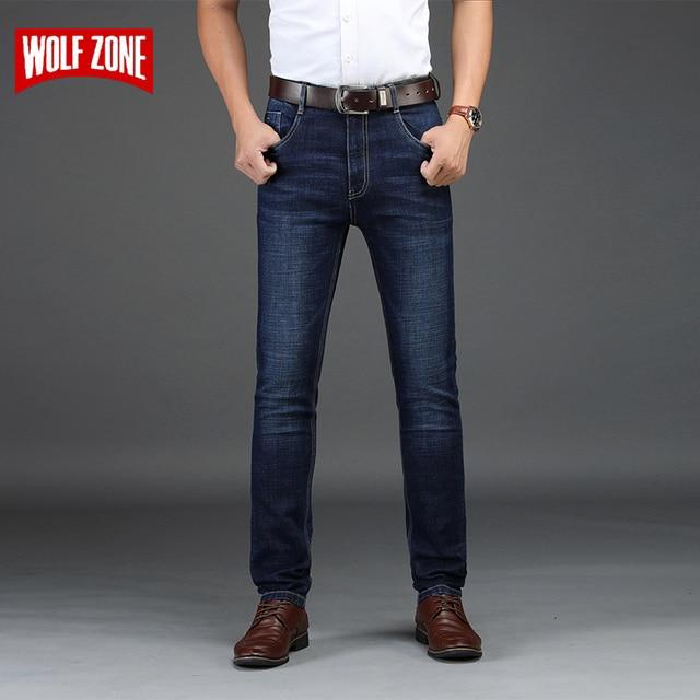 a4c6f6d72f8e7 Otoño Invierno Skinny Mid Jeans hombres ropa 2018 hombres Jeans marca  pantalones vaqueros negros moda clásica