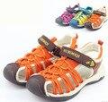 Liquidación zapatos de los niños niñas niños sandalias del dedo del pie cerrado sandalias de las muchachas niños transpirable hueco sandalias niños zapatos niños niñas zapatos