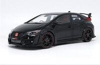 1:18 литья под давлением модели для Honda Civic Type R 2016 Черный сплав игрушечный автомобиль миниатюрный коллекция подарки TypeR MK10