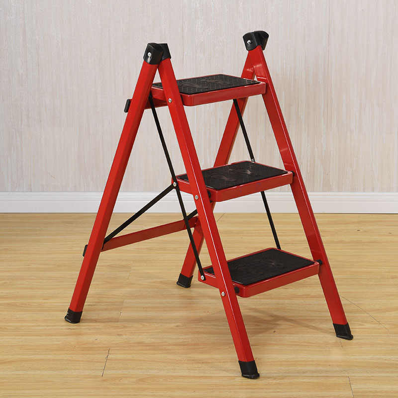 Cool Anti Slip 3 Tread Safety Step Ladder Folding Step Stools With Tool For Home Furniture Ladder Chair Machost Co Dining Chair Design Ideas Machostcouk