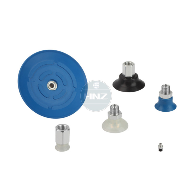 Flat Suction Cups PFYN 60NBR55 Robot hand vacuum pad G1/4 External thread HT1, SI, FPMFlat Suction Cups PFYN 60NBR55 Robot hand vacuum pad G1/4 External thread HT1, SI, FPM