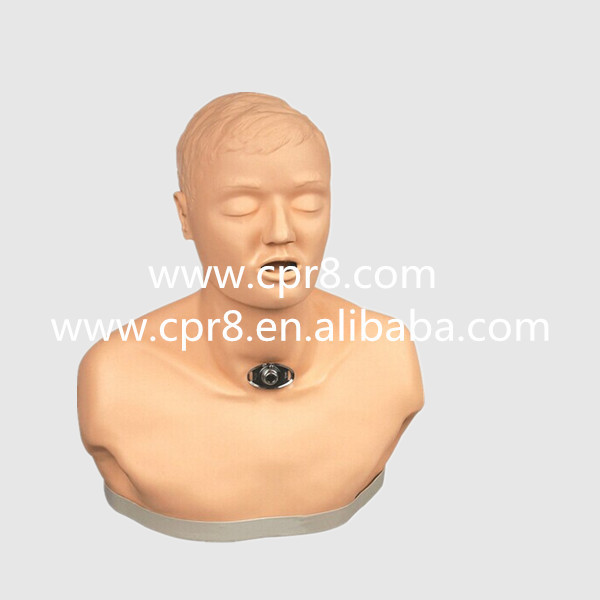 BIX-H58 Advanced Adult Tracheotomy Nursing Simulator, Trachea Nursing Manikin, Trachea Incision Nursing Model WBW056 brown marvelle haematology nursing