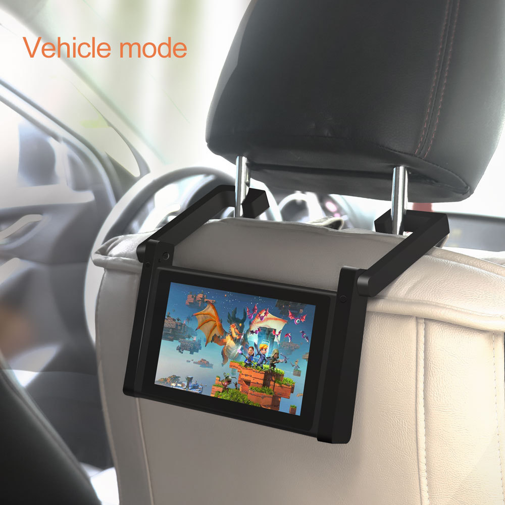 Universal Car Holder For Nintend Switch Console In Car Mount Stand No Magnetic Two In One Car Bracket NS Adjustable Desktop Hold