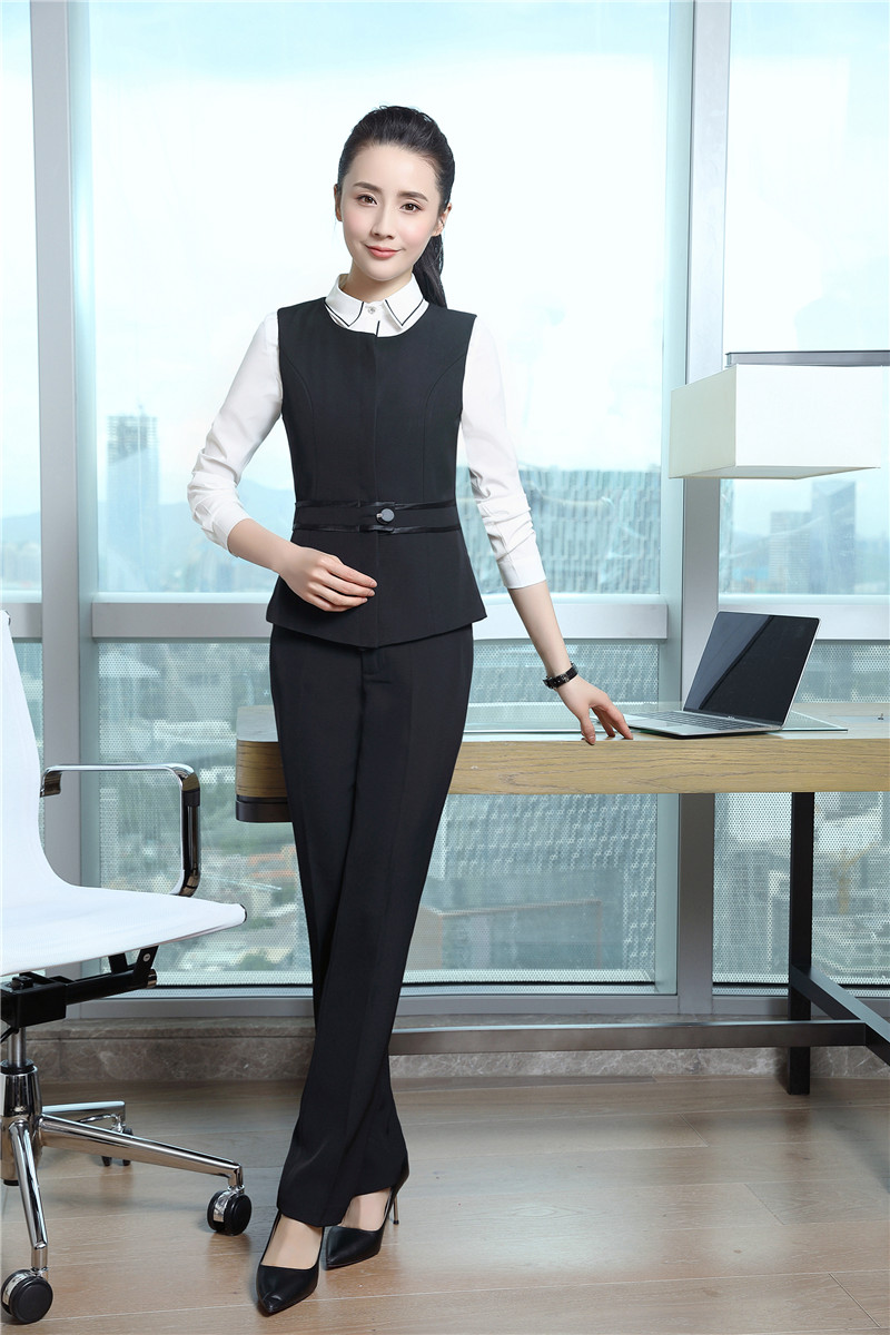 Ladies Uniform Designs Pantsuits With Tops and Pants For Women ...