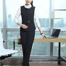 dcddc7b8646a Signore Disegni Uniformi Tailleur Pantalone Con Magliette e camicette e  Pantaloni Per Le Donne di Affari di Usura del Lavoro Gia.