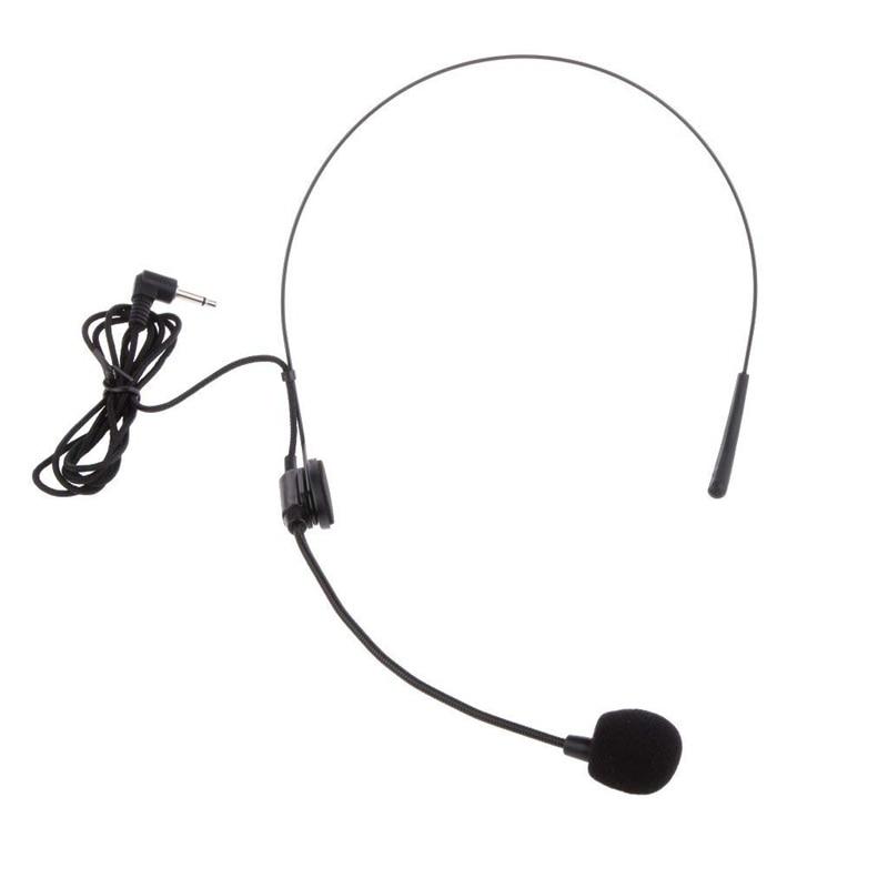 Back Electret Unidirectional Headband Microphone With Plug With Flexion Jack