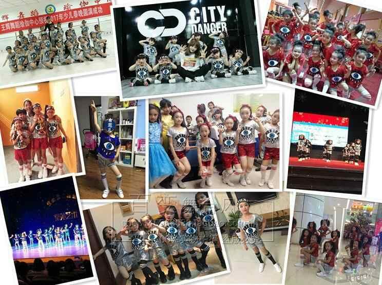 Ropa de baile de jazz para niños, trajes para niñas con lentejuelas, hip hop puesta en escena, equipo de animadora, traje Rave, falda superior de baile, conjunto de pantalón