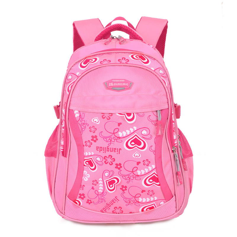 Girl school Backpack with HERT kid high school waterproof school ...
