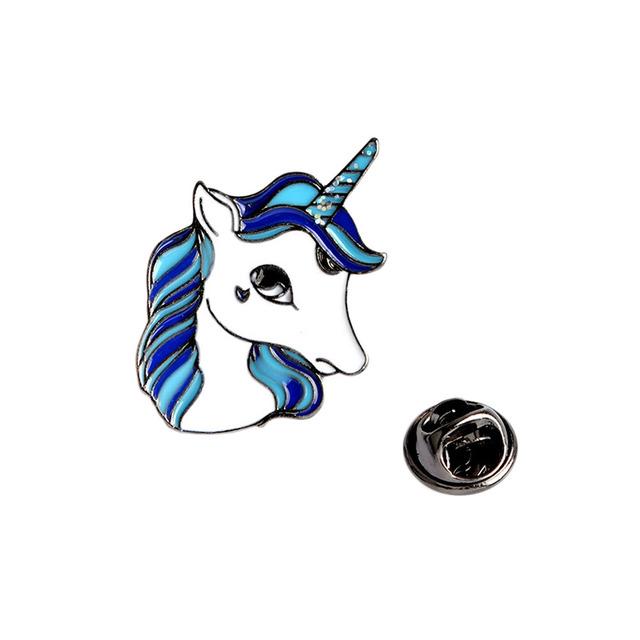 Cute Enamel Unicorn Horse Pin Brooch