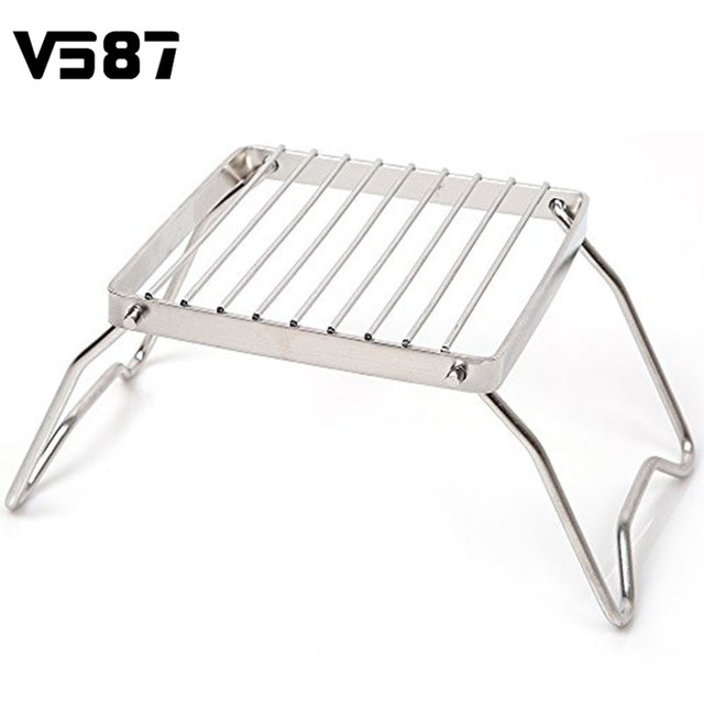 Bbq Grill Stainless Steel Rack Barbecue Portable Folding Cooking Gadgets Camping Picnic Tools Accessories
