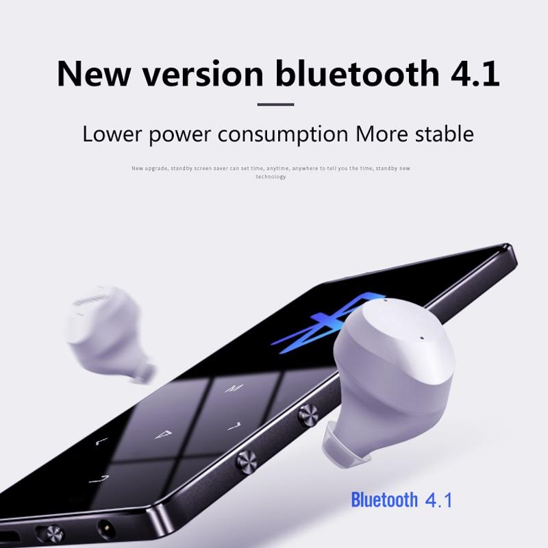 Ekran dotykowy IQQ 16G odtwarzacz MP3 z wersją Bluetooth 4.2 i głośnikiem przenośny Walkman z Fm/radiem z metalową obudową muzyka Hifi