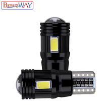 BraveWay 2pcs T10 LED Bulb Canbus Error Free 5730 6SMD W5W Lamp Auto Interior Clearance Parking Lights Car Styling 194 168 12V youen ba9s 6smd 5630 led canbus lamps error free t4w car led bulbs interior lights car light source parking 12v white 8000k