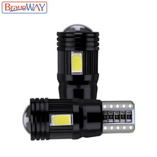 BraveWay 2pcs T10 LED Lamp Canbus Foutloos 5730 6SMD W5W Lamp Auto Interieur Klaring Stadslichten Auto Styling 194 168 12V(China)