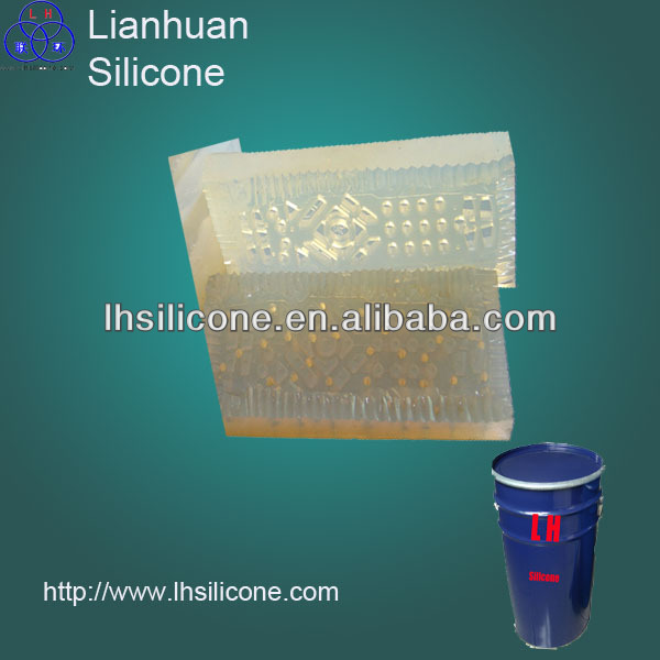 Platinum cured liquid silicone rubber for casting with low