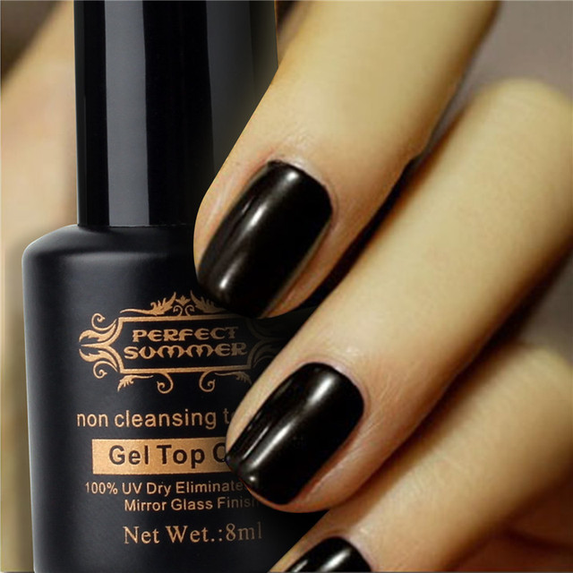 8ml Nail Art DIY Salon Non Cleansing Top Coat Hot Sale