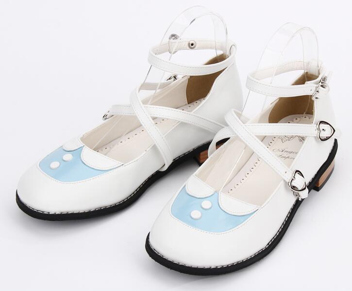Sky Imprimir 47 Lolita Mori Vestido Zapatos Bombas Tacones Blue 5 Bajos Fiesta dark Estudiante Mujeres Blue De Angelical Princesa Mujer Cm 2 Chica Las Cosplay 33 BfwIdq