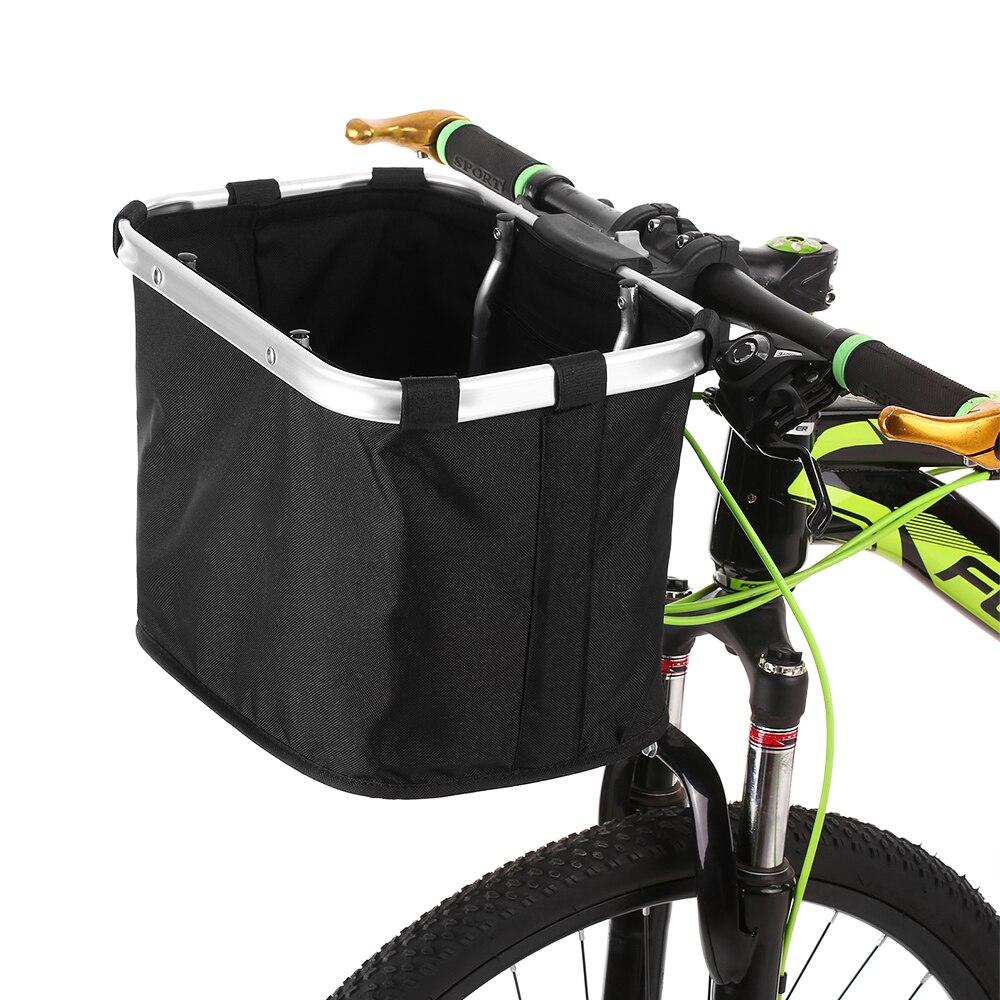 Folding Rear Bike Basket Road MTB Bicycle Detachable Handlebar Storage Front Bag