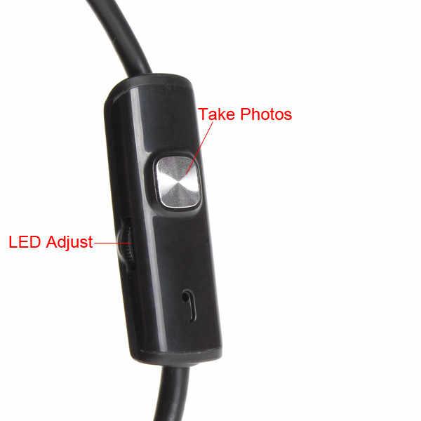 1m 5.5mm 7mm Android kamera endoskopowa wodoodporna 6 LED elastyczny wziernik optyczny endoskop usb wąż Tube Dropshipping
